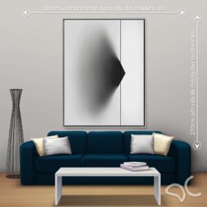 Quadro Abstrato Clean Due Dcorando