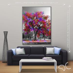 Quadro Árvore Colorida Dcorando