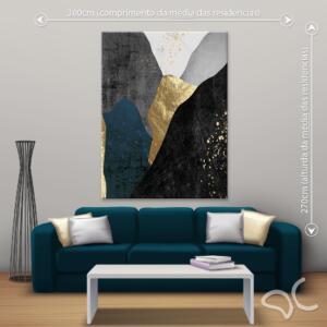 Quadro Abstrato Luxury Quad Dcorando