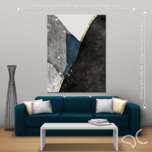 Quadro Abstrato Luxury Quin Dcorando