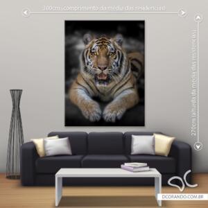 Quadro Tigre Dcorando