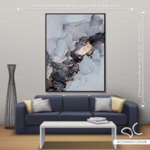 Quadro Abstrato Cinza Dcorando