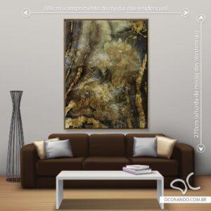 Quadro Dcorando Abstrato Gold
