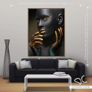 Dcorando Quadro Beleza Negra Divina Due