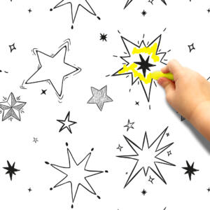 Pinta e apaga estrelas Papel de parede adesivo Dcorando
