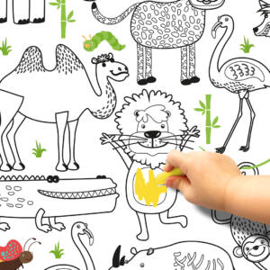 Pinta e Apaga Papel de Parede Safari Dcorando