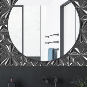 Papel de Parede 3D Cinza Escuro Dcorando REV3D133